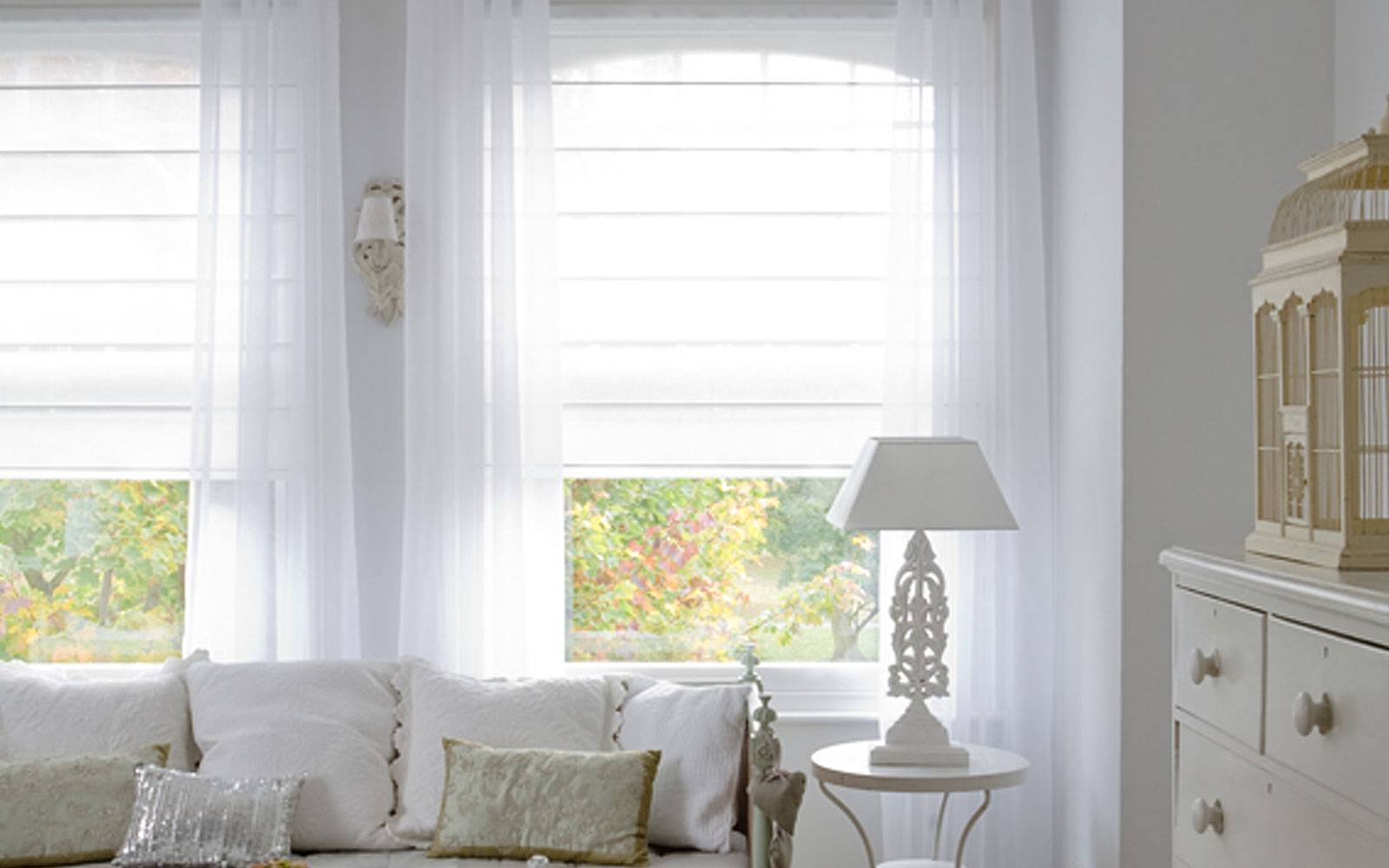 Roman Blinds Voile Custom Blinds Aberdeen